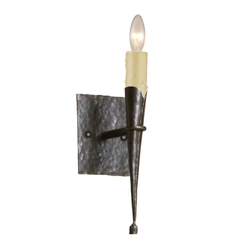 Hand Hammered Cone Sconce