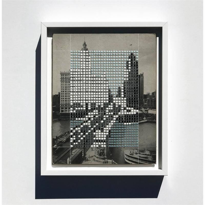 Borrowed Landscapes Study No.182/ IL, Chicago, Wrigley & Tribune Buildings, 2018