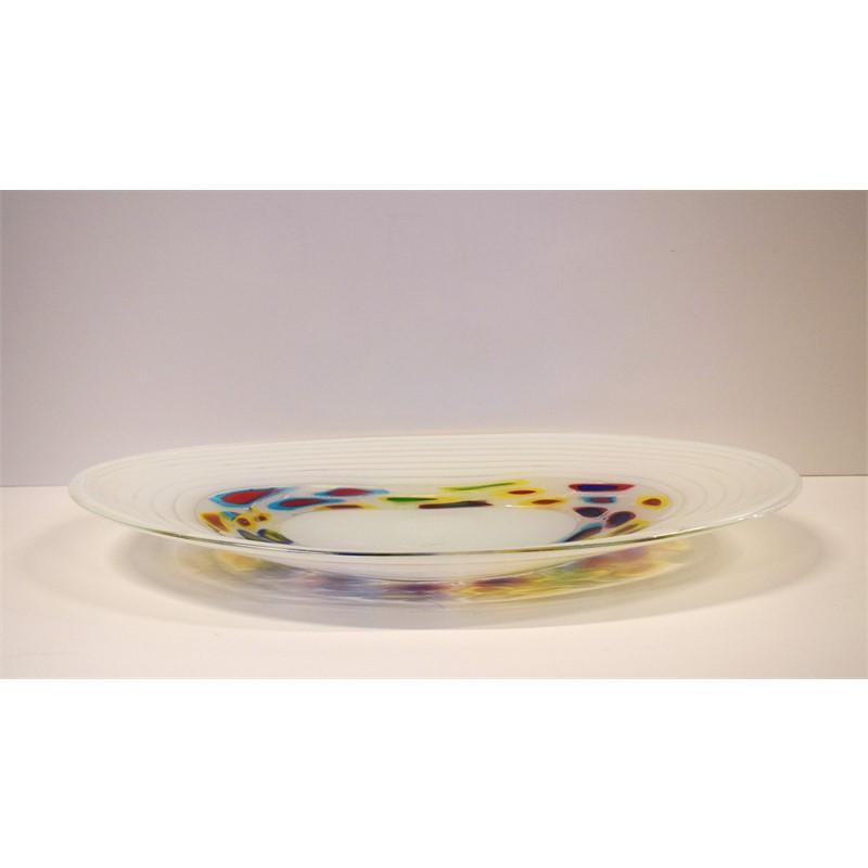 VENETIAN MURRINE GLASS OVAL PLATTER