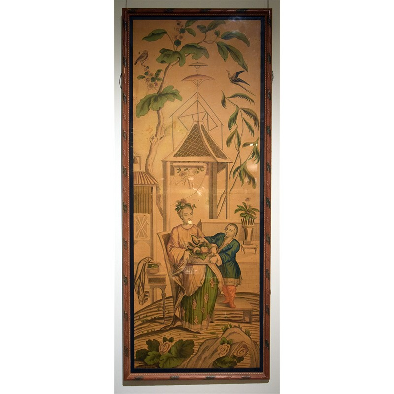 PAIR OF CHINOISERIE WALLPAPER PANEL ENGRAVINGS , French, 18th century