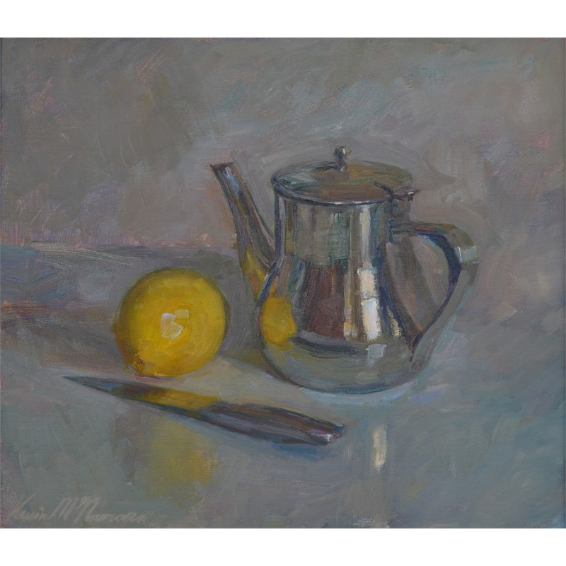 Still Life with Tea Pot and Lemon