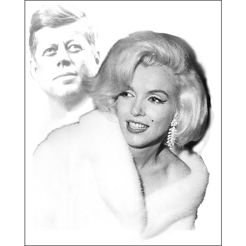 Marilyn and JFK Available as Commission- Size TBD, 2018