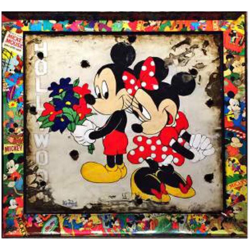 Mickey and Minnie with Walt Disney Signature- Original SOLD