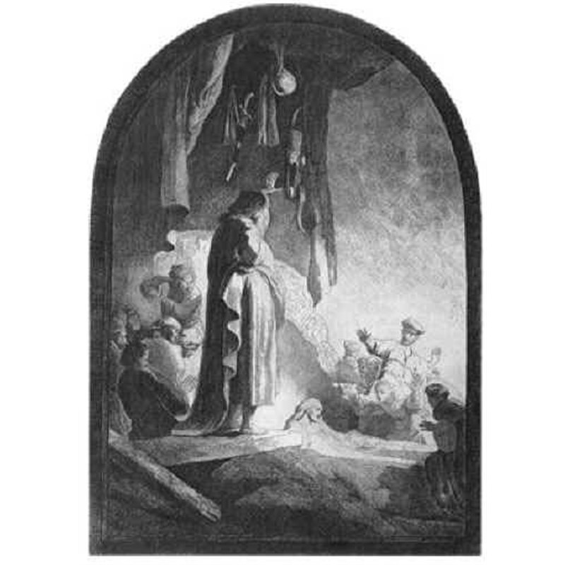 The Raising of Lazarus the Larger Plate