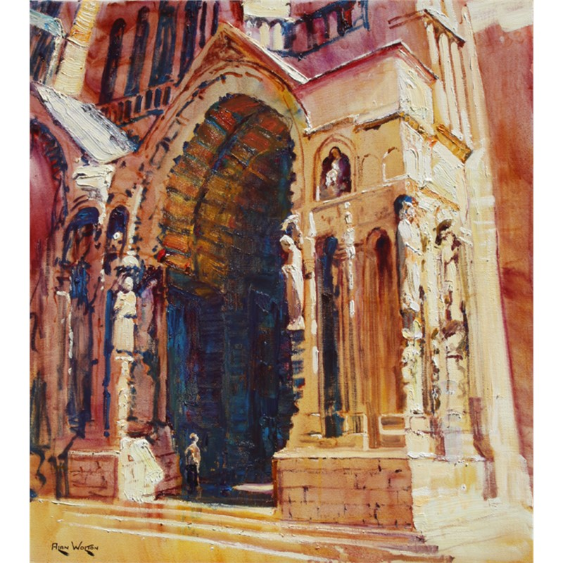 Chartes Cathedral by Alan Wolton