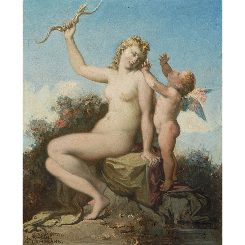 VENUS AND CUPID, 19th century