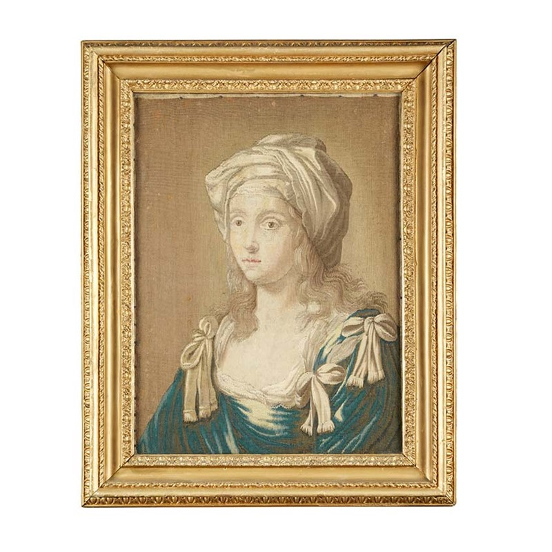 TAPESTRY PORTRAIT OF SYBIL, French, 17th/18th century