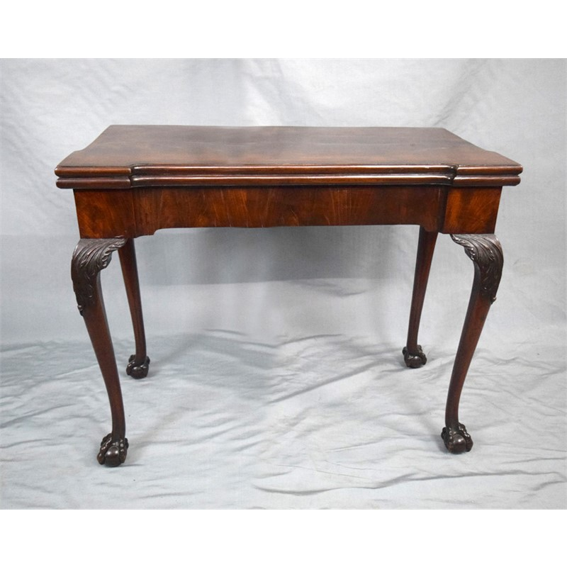ENGLISH GEORGE II  MAHOGANY GATE LEG CARD TABLE, English, circa 1750
