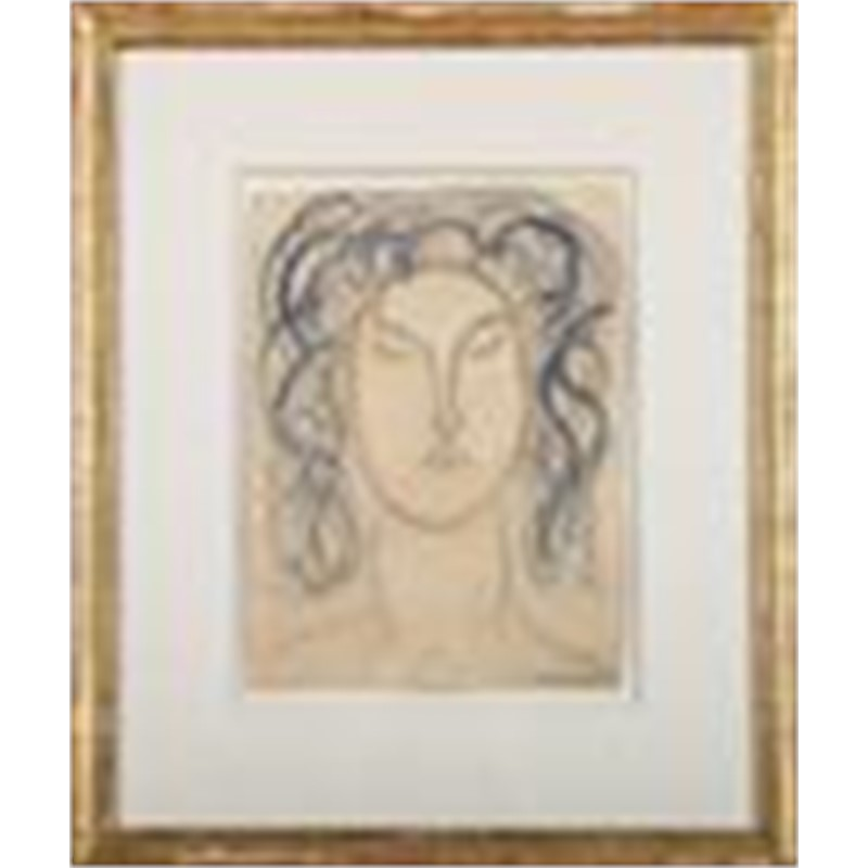HEAD OF A WOMAN, French, 20th century