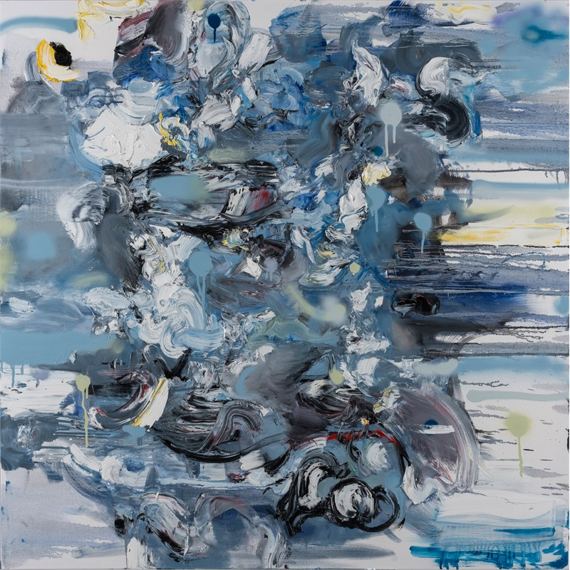 Untitled (Composition in Blue) (Sold), 2017