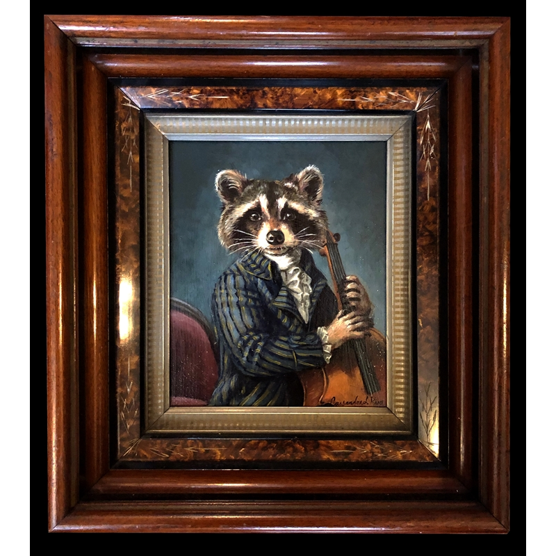 Raccoon  Playing a Cello, 2020