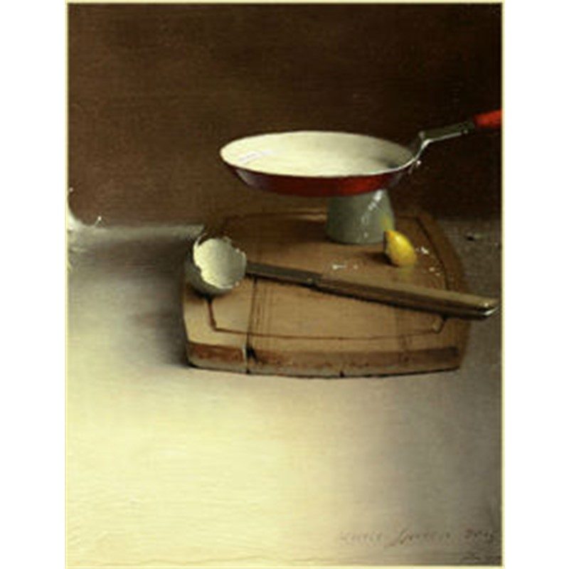 Red Pan and Cutting Board