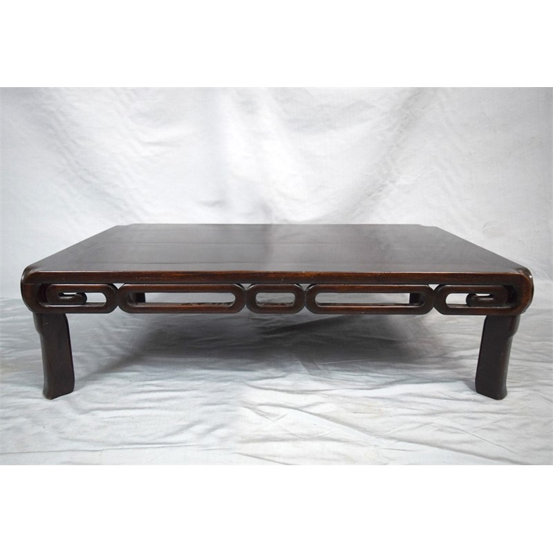 HARDWOOD LOW KANG TABLE, Chinese, 19th century