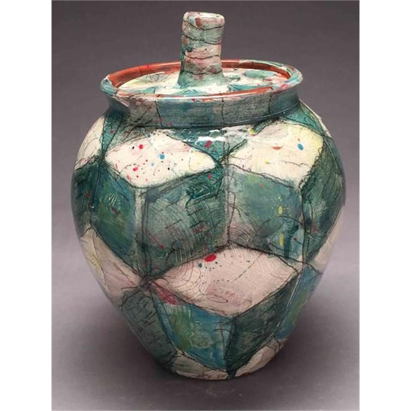 Tumbling Blocks Jar