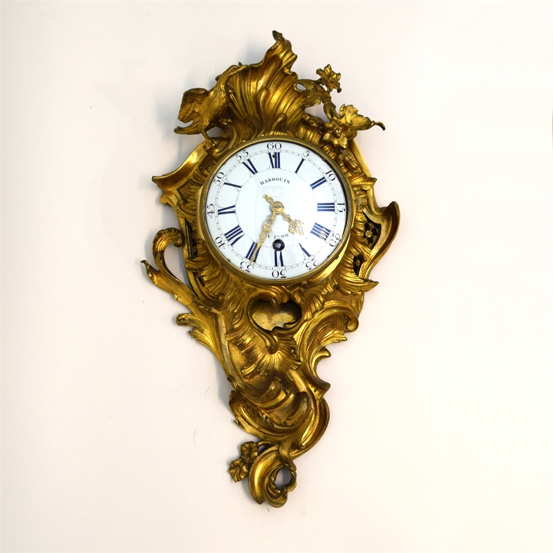 LOUIS XV GILT BRONZE CARTEL CLOCK, French, 18th century