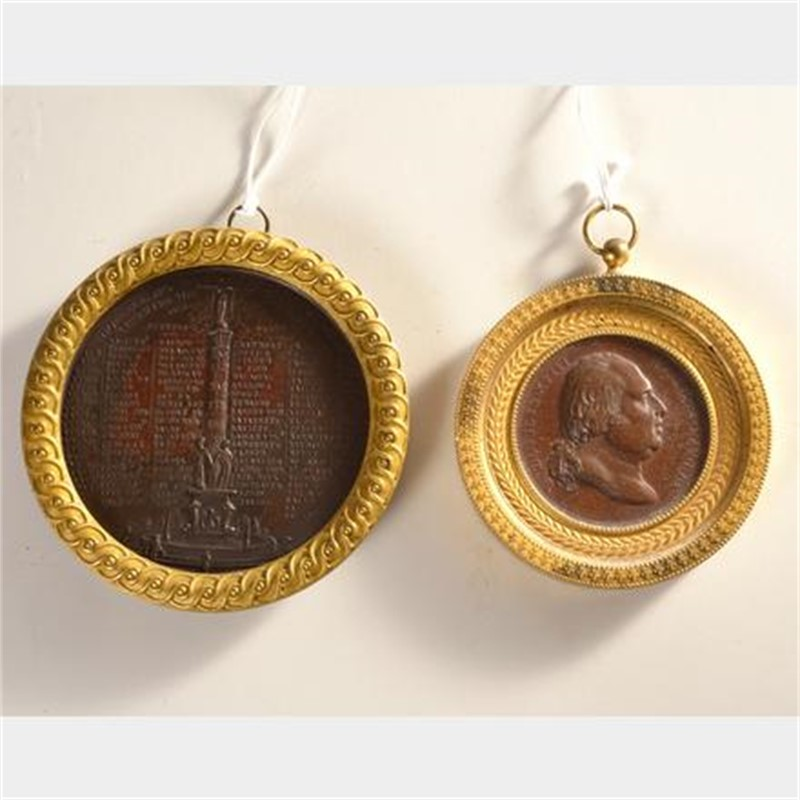 TWO FRENCH MEDALS, Frech, 19th century