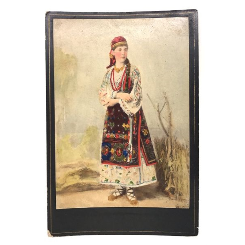 Hungarian Painted Cabinet Card 13, Circa 1880s