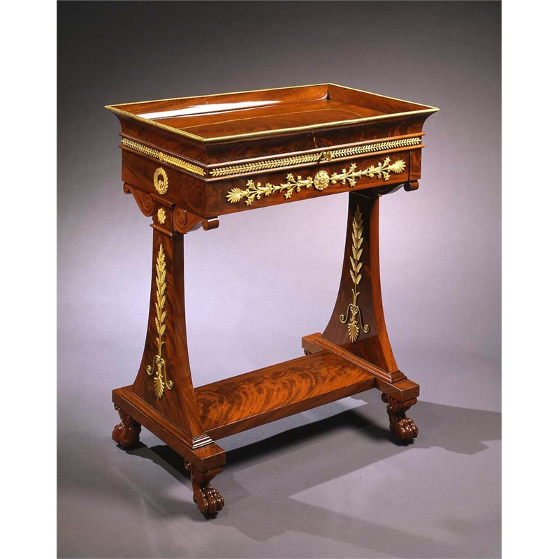CONSULAT/EMPIRE MAHOGANY TABLE A LIRE A SECRET STAMPED JACOB DR MESLÉE , French, circa 1805