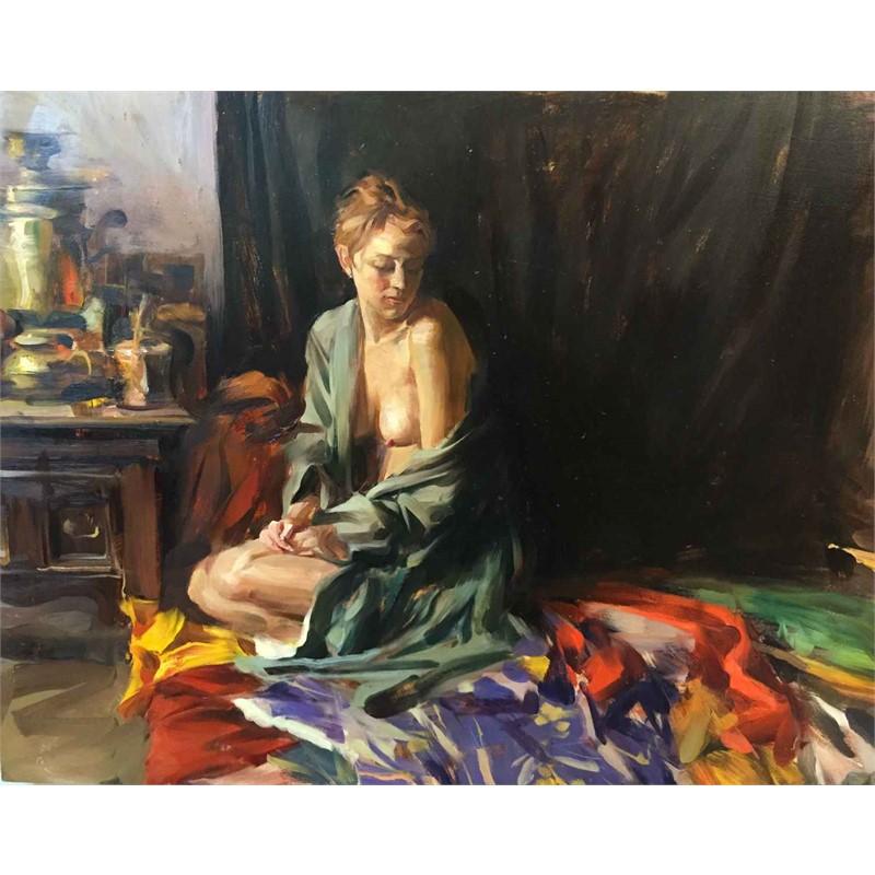 Figure with Silk Kimono