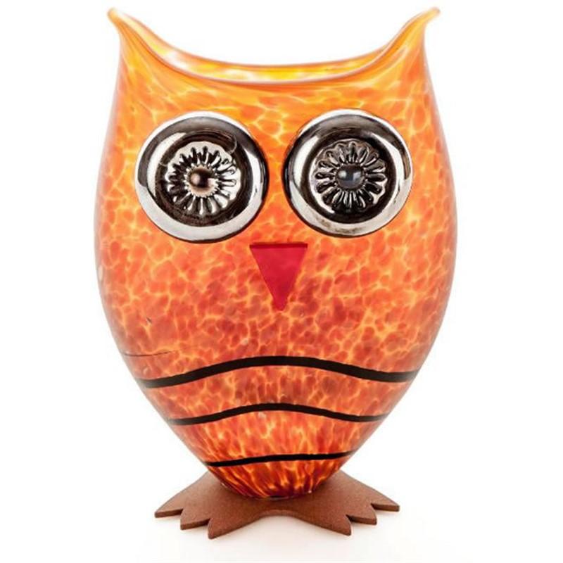 OWL Vase Amber 24-03-75, 2019