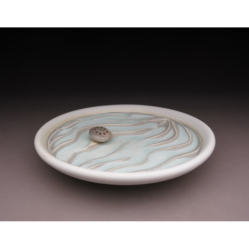 Carved Plate w/ Stone