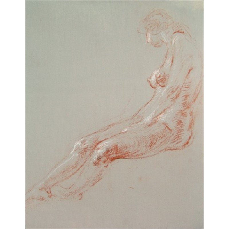 Seated Female Figure, Side View by Frank Mason