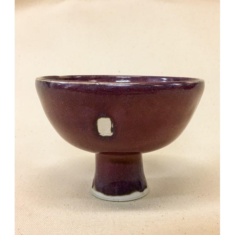 Purple Stemmed Bowl
