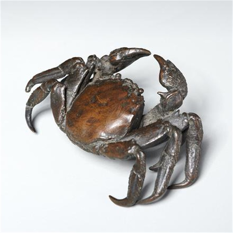 BRONZE SCULPTURE OF A CRAB, 19th century