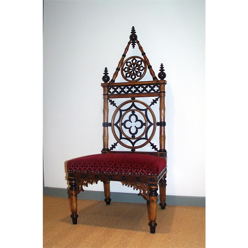 ENGLISH GOTHIC SIDE CHAIR, English, circa 1850-1860