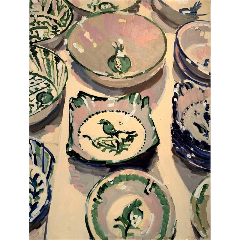 Pink and Green Plates
