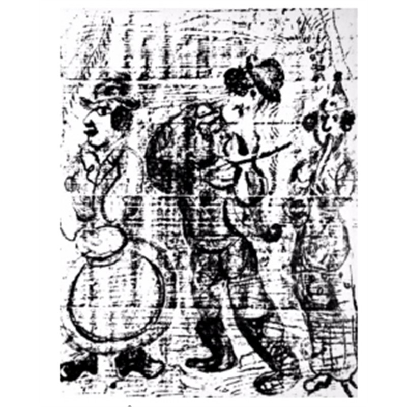 Wandering Musicians from Chagall Lithographs I, 1960