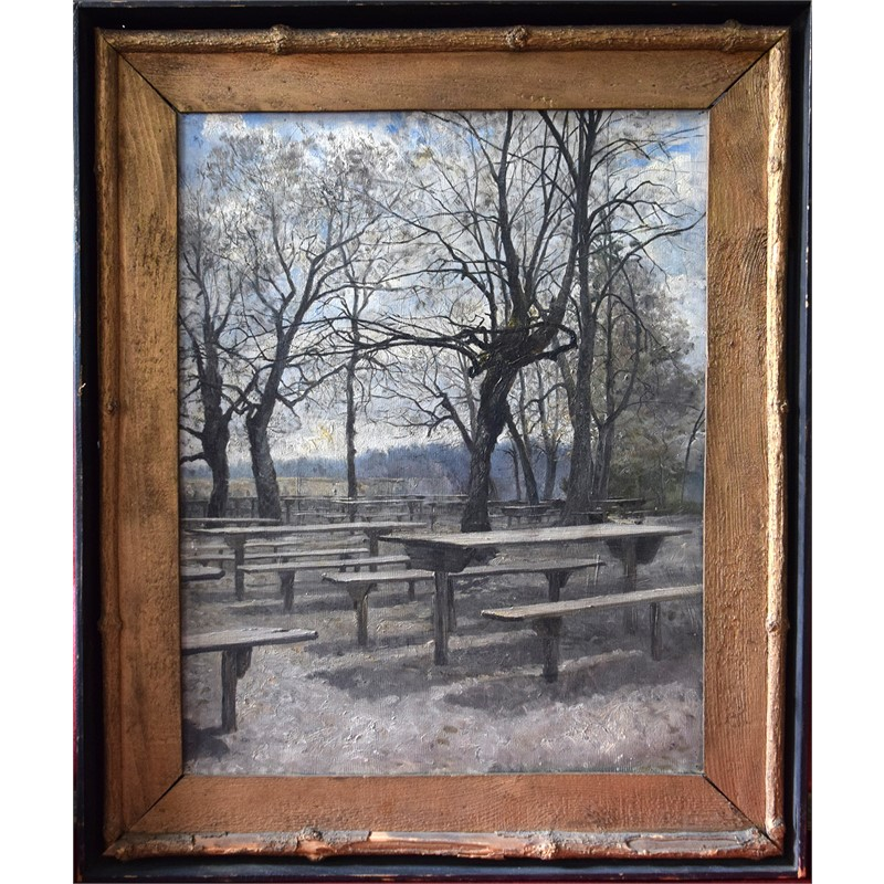 PICNIC TABLES UNDER TREES, Continental, 19th/20th century
