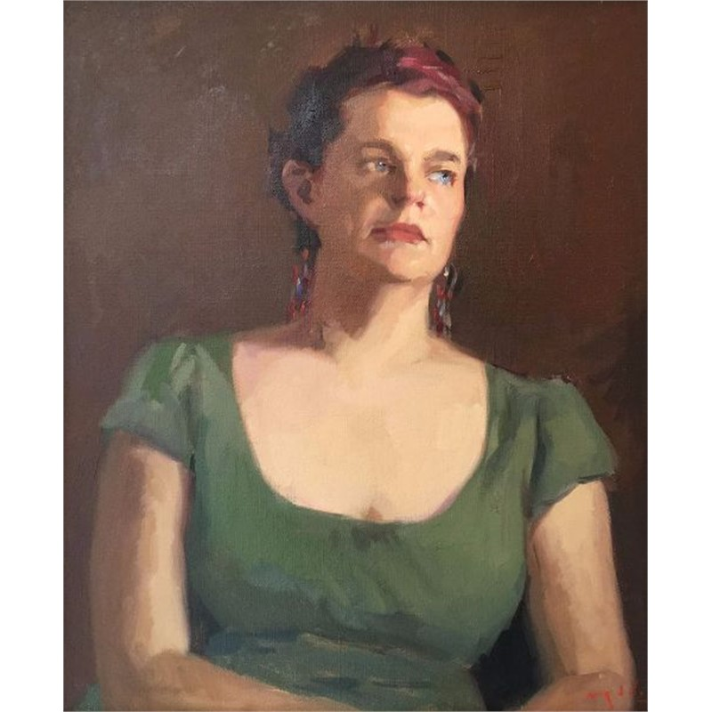 Stephanie in Green (A Portrait Study)