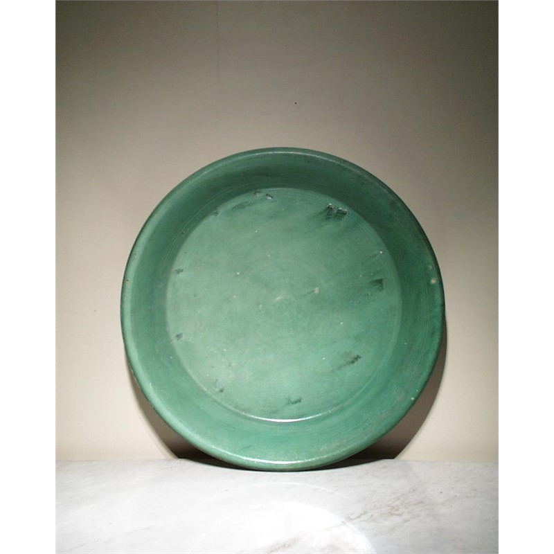 LARGE GREEN GLAZED BASIN, Chinese, Liao Dynasty(907-1125)