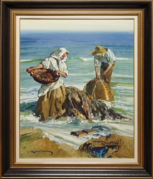 Pescadores y rocas (Valencia, Espana)-YY