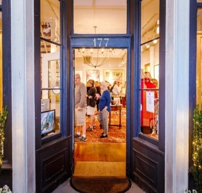 The front door at Hagan Fine art galleries charleston sc