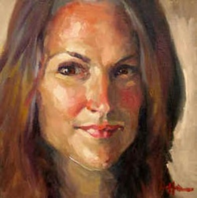 Mary Hoffman's Self Portrait. Commission your own portrait by Mary or one of our other artists