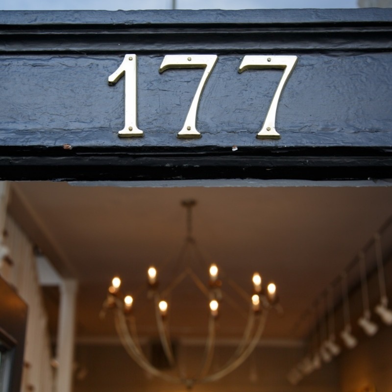 Image of the front door of Hagan Fine Art Gallery at 177 King St
