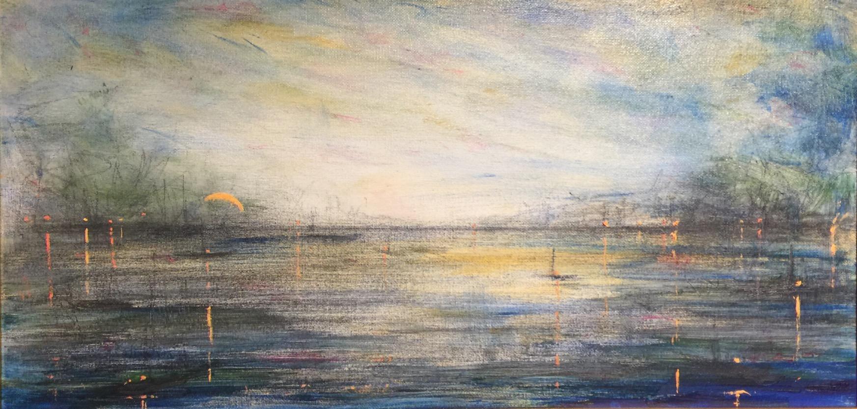 Twilight Harbor, Last Light, Amber Tones