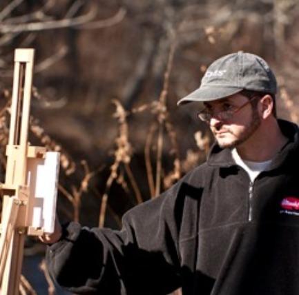 Joe Gyursak painting en plein air