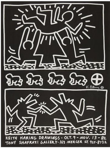 Keith Haring Drawing Exhibition poster