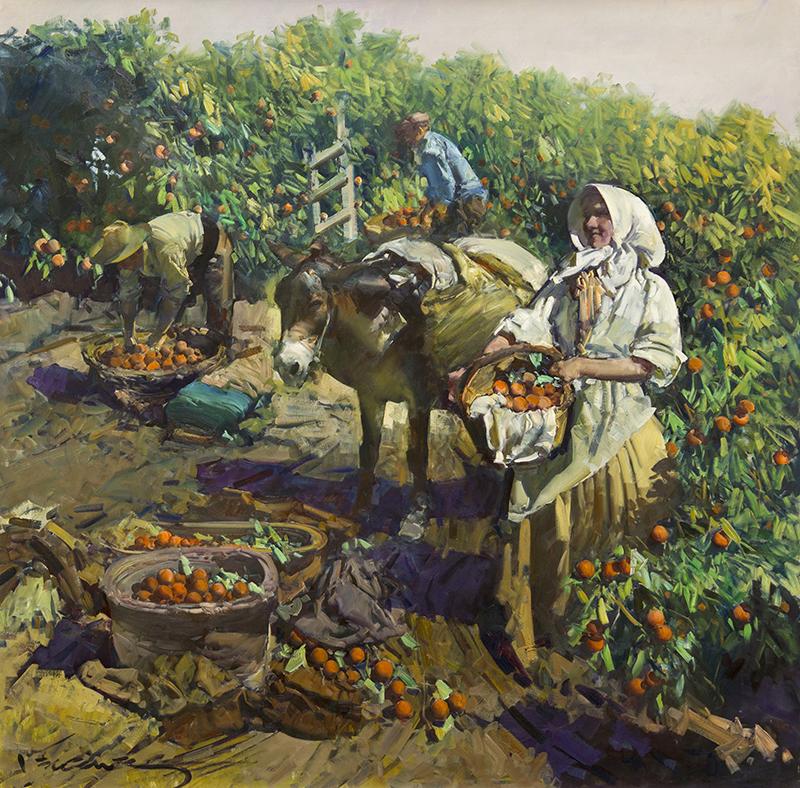 Naranjos de Valencia Espana (Oranges of Valencia, Spain)