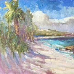 Hope Town Lighthouse painting by Karen Hewitt Hagan